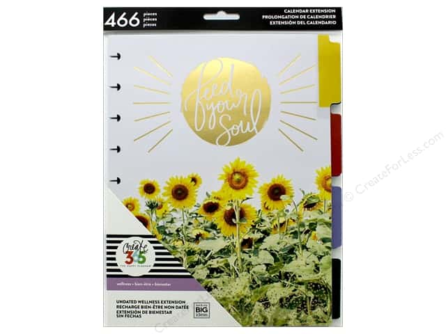 Me&My Big Ideas Collection Create 365 Happy Planner Extensions Classic Wellness