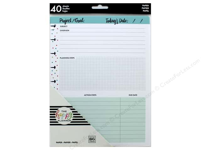 Me&My Big Ideas Collection Create 365 Happy Planner Medium Filler Project Sheets