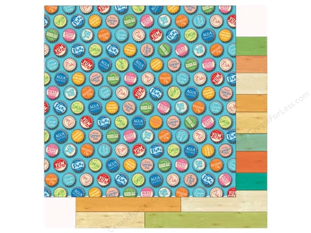 Carta Bella Collection Summer Splash Paper 12 in. x 12 in. Bottle Caps (25 pieces)