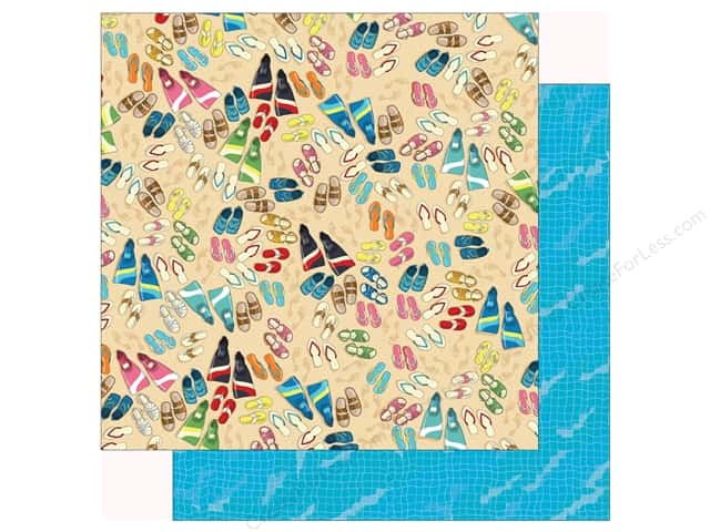 Carta Bella Collection Summer Splash Paper 12 in. x 12 in. Toes In Sand (25 pieces)