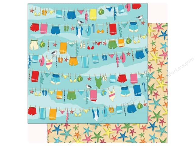 Carta Bella Collection Summer Splash Paper 12 in. x 12 in. Beach Day (25 pieces)