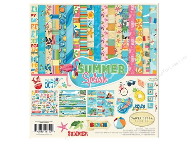 Carta Bella Collection Summer Splash Collection Kit 12 in. x 12 in.