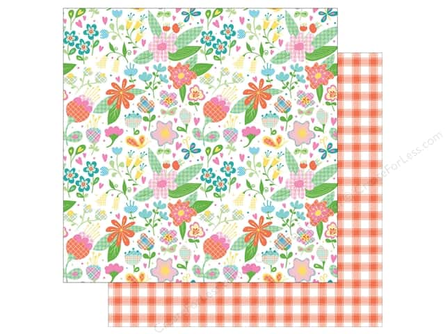 Photo Play Collection  Made 4 Plaid Happy Paper  12 in. x 12 in. Flowers (25 pieces)