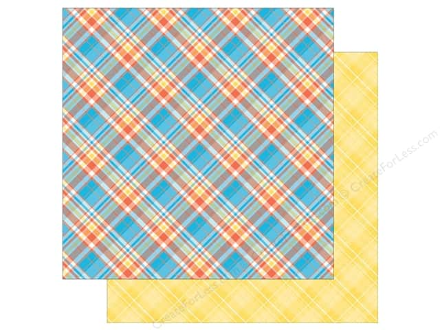 Photo Play Collection  Made 4 Plaid Happy Paper 12 in. x 12 in. Plaid