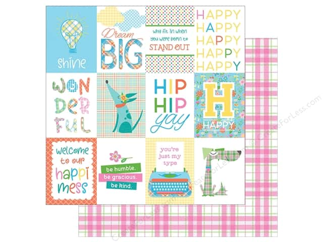Photo Play Collection  Made 4 Plaid Happy Paper 12 in. x 12 in. Day (25 pieces)