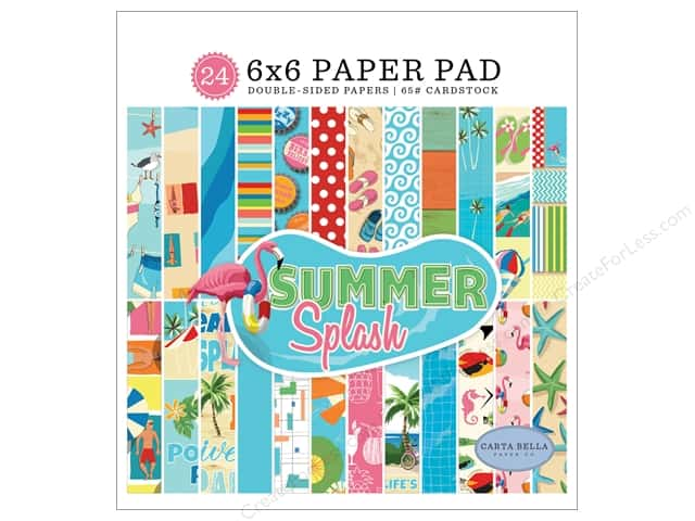 Carta Bella Collection Summer Splash Paper Pad 6 in. x 6 in.