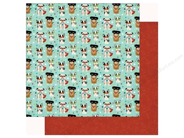 Echo Park Imagine That Boy Paper 12 in. x 12 in. Super Dogs (25 pieces)
