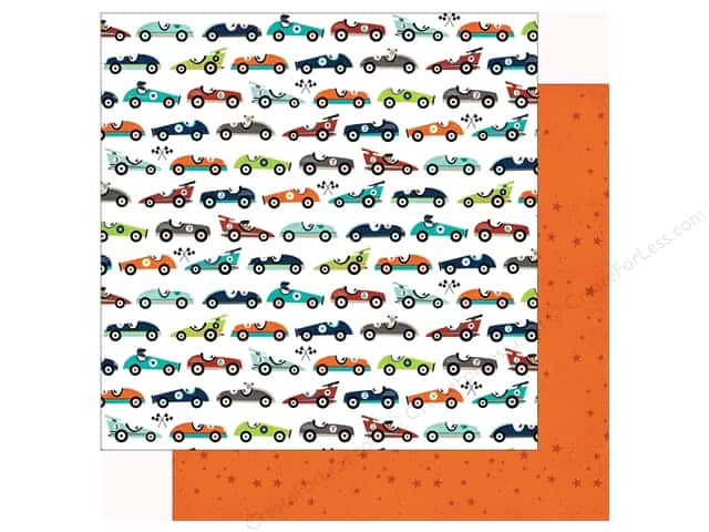 Echo Park Imagine That Boy Paper 12 in. x 12 in. Car Race (25 pieces)