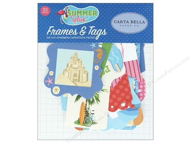 Carta Bella Collection Summer Splash Ephemera Frames & Tags