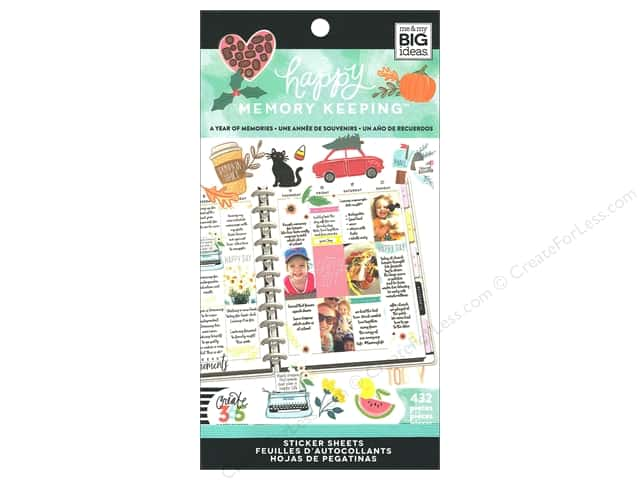 Me&My Big Ideas Create 365 Happy Memory Keeping Sticker Value Pack Big Year Of Memory