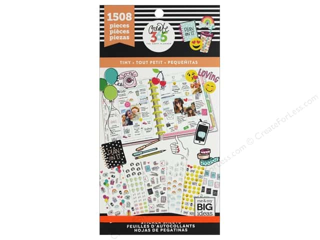 Me&My Big Ideas Create 365 Happy Planner Sticker Value Pack Tiny Icons