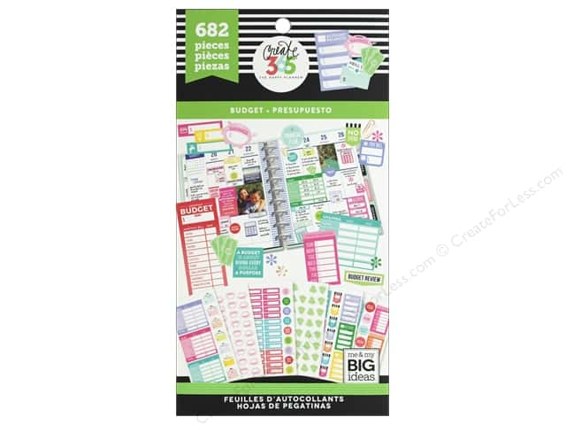 Me&My Big Ideas Create 365 Happy Planner Sticker Value Pack Fill In Budget