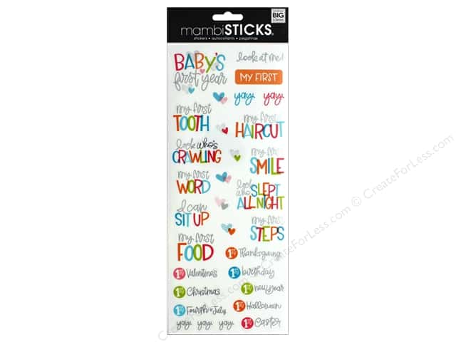 Me&My Big Ideas Sticker Sticks Specialty Baby's First Year Words