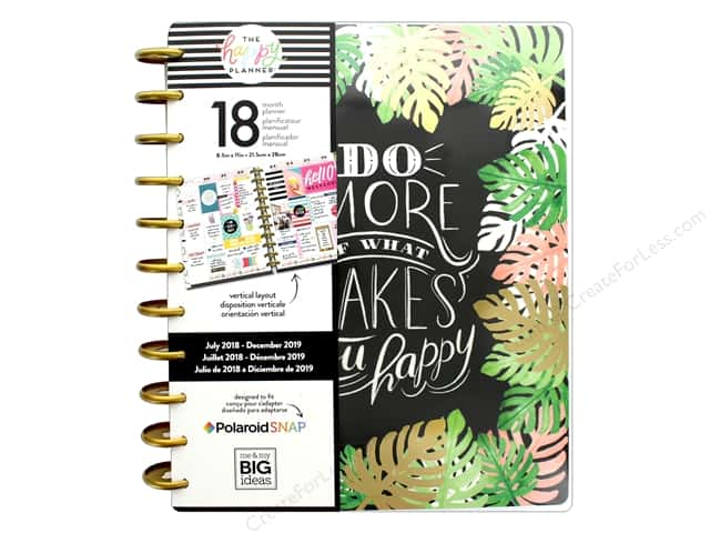 Me&My Big Ideas Collection Create 365 Happy Planner Big 18 Month Makes Happy