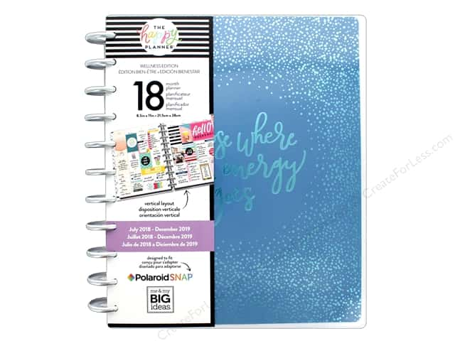Me&My Big Ideas Collection Create 365 Happy Planner Big 18 Month Energy Goes 2018/2019