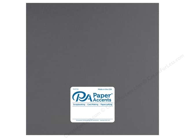 Paper Accents Cardstock 12 in. x 12 in. Muslin 73 lb Smoke Gray (25 sheets)
