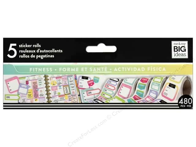 Me&My Big Ideas Create 365 Happy Planner Sticker Roll Fitness