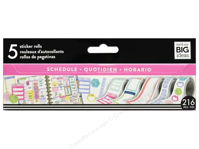 Me&My Big Ideas Collection Create 365 Happy Planner Sticker Roll Scheduling