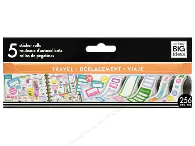Me&My Big Ideas Collection Create 365 Happy Planner Sticker Roll Travel