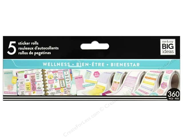 Me&My Big Ideas Collection Create 365 Happy Planner Sticker Roll Wellness