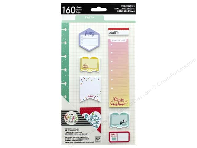 Me&My Big Ideas Collection Create 365 Happy Planner Sticky Notes Faith