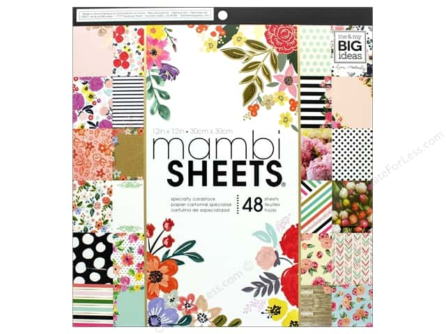 MAMBI Sheets Cardstock Pad 12 in. x 12 in. Botanicals