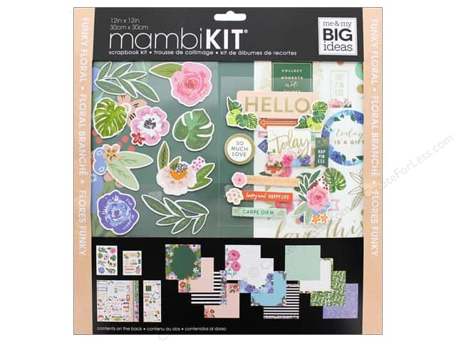 Me&My Big Ideas Page Kit Scrapbook 12 in. x 12 in. Funky Florals