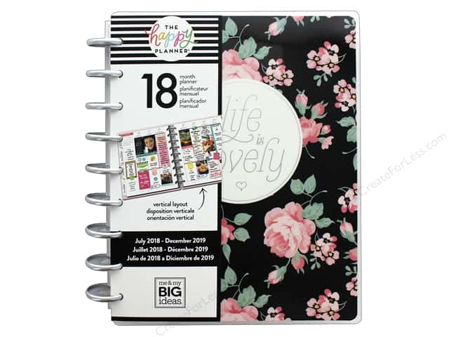 Me&My Big Ideas Collection Create 365 Happy Planner Classic 18 Month Life Lovely