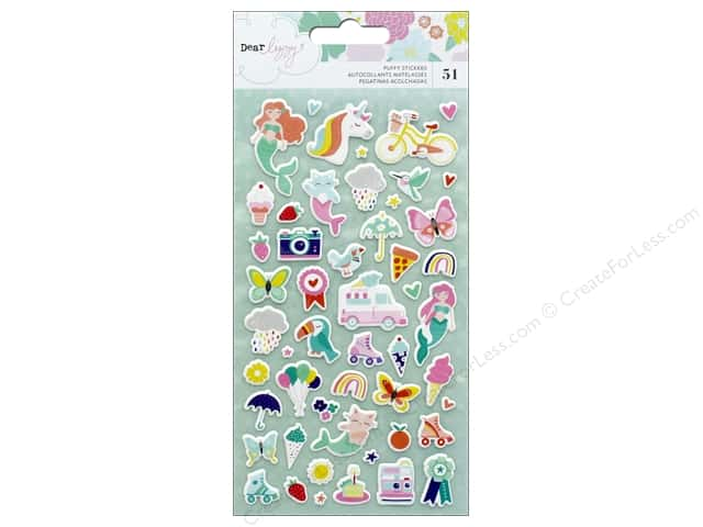American Crafts Dear Lizzy Stay Colorful Sticker Puffy