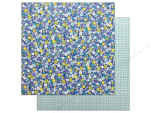 American Crafts Dear Lizzy Stay Colorful 12 in. x 12 in. Bell Bottom Blue (25 pieces)