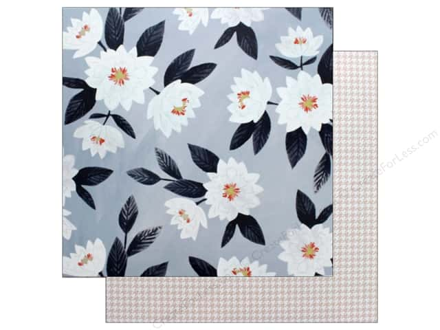 American Crafts One Canoe Two Twilight Paper 12 in. x 12 in. Evening Posies