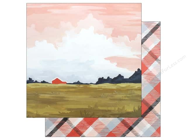 American Crafts One Canoe Two Twilight Paper 12 in. x 12 in. Landscape