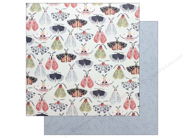 American Crafts One Canoe Two Twilight Paper 12 in. x 12 in. Flight Of Moths