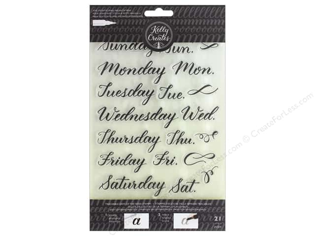 American Crafts Collection Kelly Creates Stamp Traceable Days Of The Week