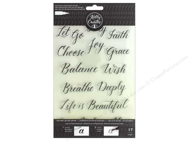 American Crafts Collection Kelly Creates Stamp Traceable Quotes 1