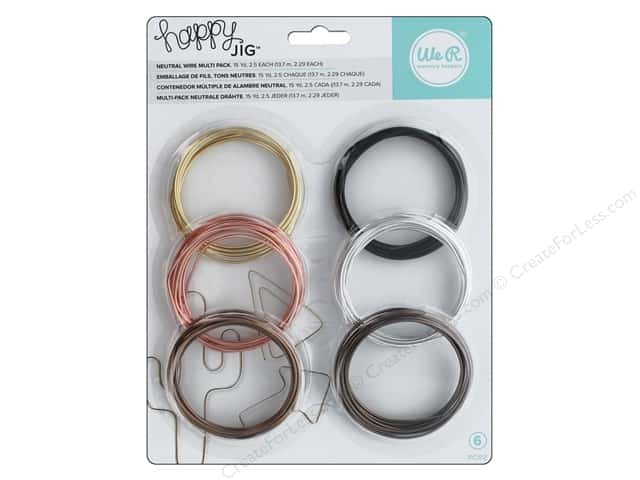 We R Memory Keepers Happy Jig Color Wire 6 pc. Neutral