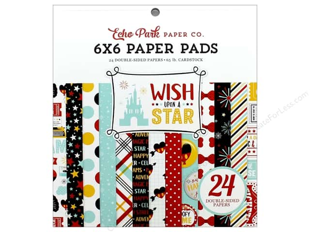 Echo Park Wish Upon A Star Paper Pad 6 in. x 6 in.