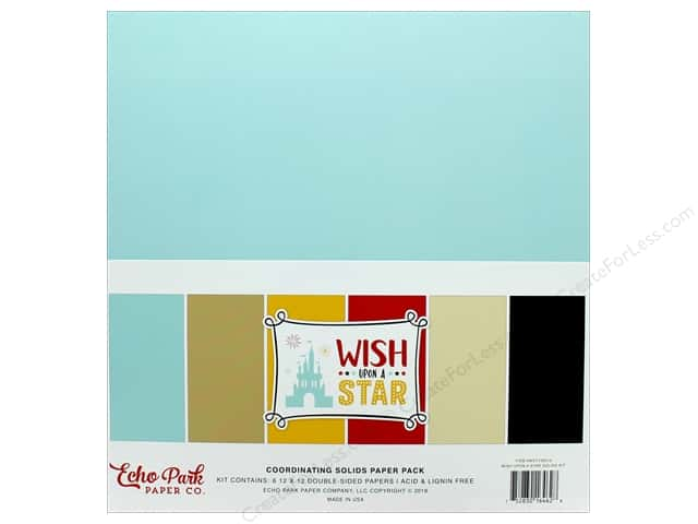 Echo Park Wish Upon A Star Paper Pack 12 in. x 12 in. Solid