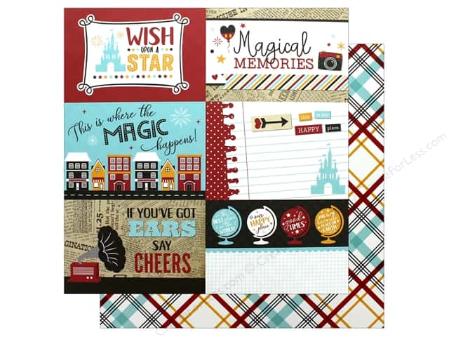 Echo Park Wish Upon A Star Paper 12 in. x 12 in. Journaling Card 4 in. x 6 in. (25 pieces)