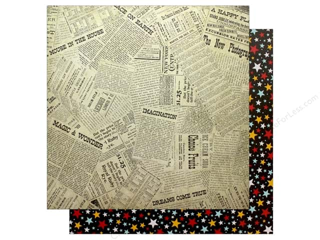 Echo Park Wish Upon A Star Paper 12 in. x 12 in. Newsprint (25 pieces)