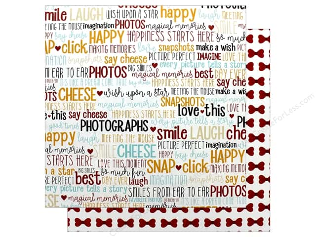 Echo Park Wish Upon A Star Paper 12 in. x 12 in. Smile Word (25 pieces)