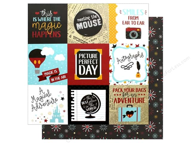 Echo Park Wish Upon A Star Paper  12 in. x 12 in. Journaling Card 4 in. x 4 in. (25 pieces)