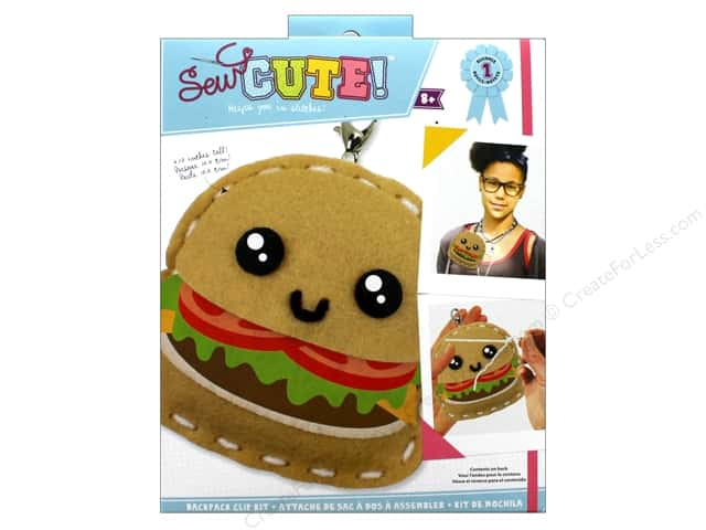 Colorbok Kit Sew Cute Backpack Clip Burger