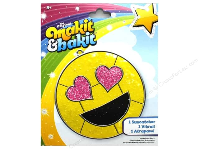 Colorbok Makit & Bakit Suncatcher Kit - Emoji Heart Eye