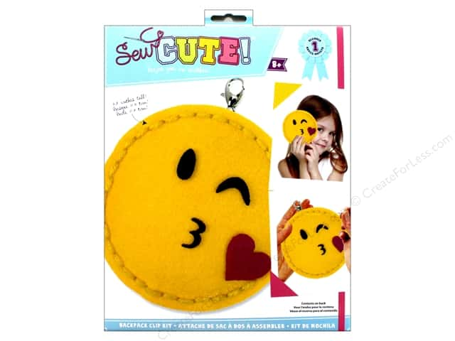 Colorbok Kit Sew Cute Backpack Clip Wink And Kiss