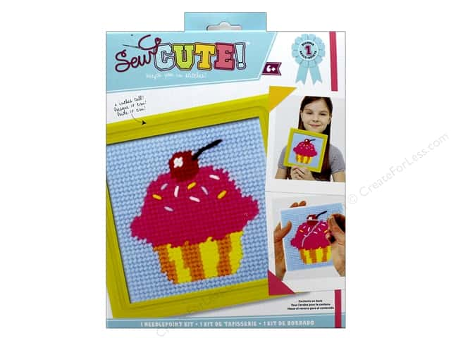 Colorbok Kit Sew Cute Needlepoint Cupcake
