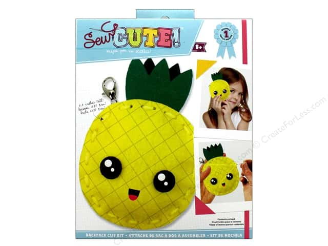 Colorbok Kit Sew Cute Backpack Clip Pineapple