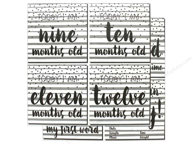 """Reminisce Modern Baby Paper 12""""x 12"""" First Year Too"""