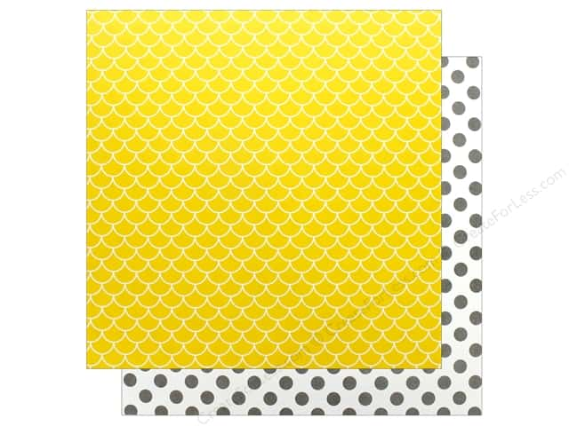 Reminisce Modern Baby Paper 12 in. x 12 in. Sunshine (25 pieces)