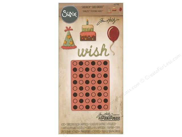 Sizzix Die & Emboss Folder Tim Holtz Sidekick Birthday
